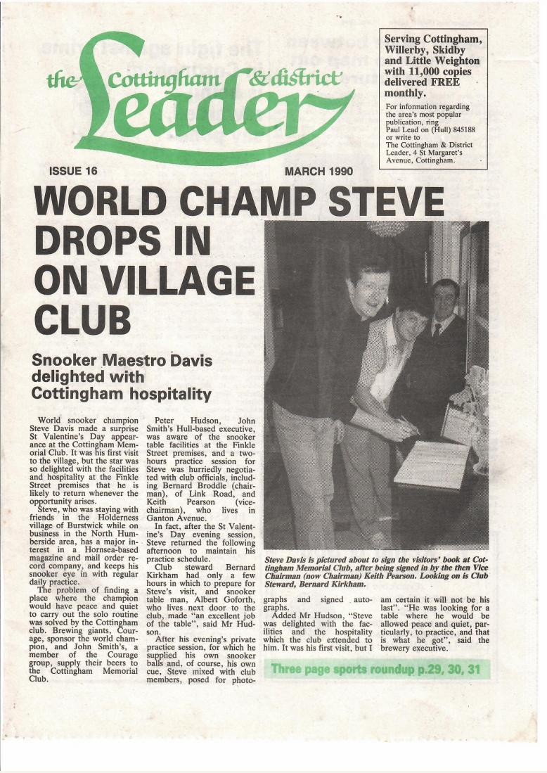 SteveDavis_CottinghamLeader_March1990